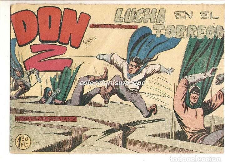 DON Z Nº 10 TEBEO ORIGINAL 1959 LUCHA EN EL TORREON EDITORIAL MAGA SERCHIO BUEN ESTADO OFERTA ! (Tebeos y Comics - Maga - Don Z)