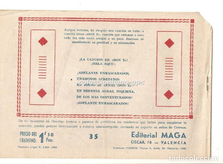 Tebeos: DON Z nº 35 TEBEO ORIGINAL 1959 MISTERIO TRAS LA PUERTA Editorial MAGA Serchio Buen Estado Oferta ! - Foto 2 - 163762642