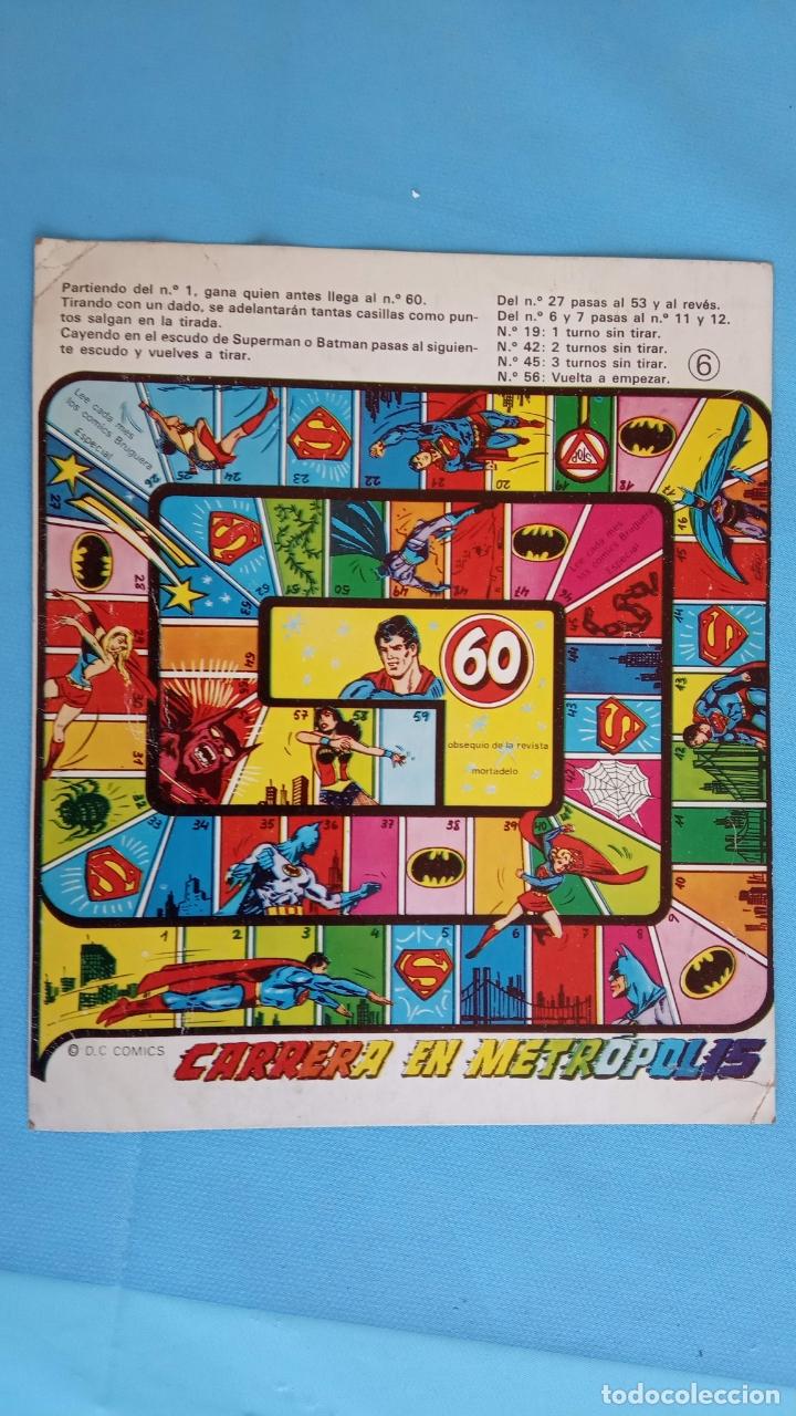 PUBLICIDAD DE SUPERMAN CON JUEGO TIPO A LA OCA (Tebeos y Comics - Maga - Otros)
