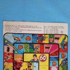 Livros de Banda Desenhada: PUBLICIDAD DE SUPERMAN CON JUEGO TIPO A LA OCA. Lote 164086178