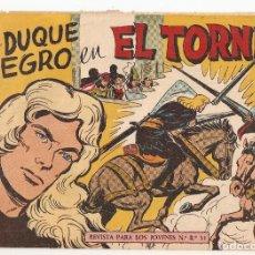 Livros de Banda Desenhada: EL DUQUE NEGRO Nº 19 TEBEO ORIGINAL 1957 EL TORNEO EDITORIAL MAGA GAGO QUESADA OFERTA MIRA !!. Lote 164466706