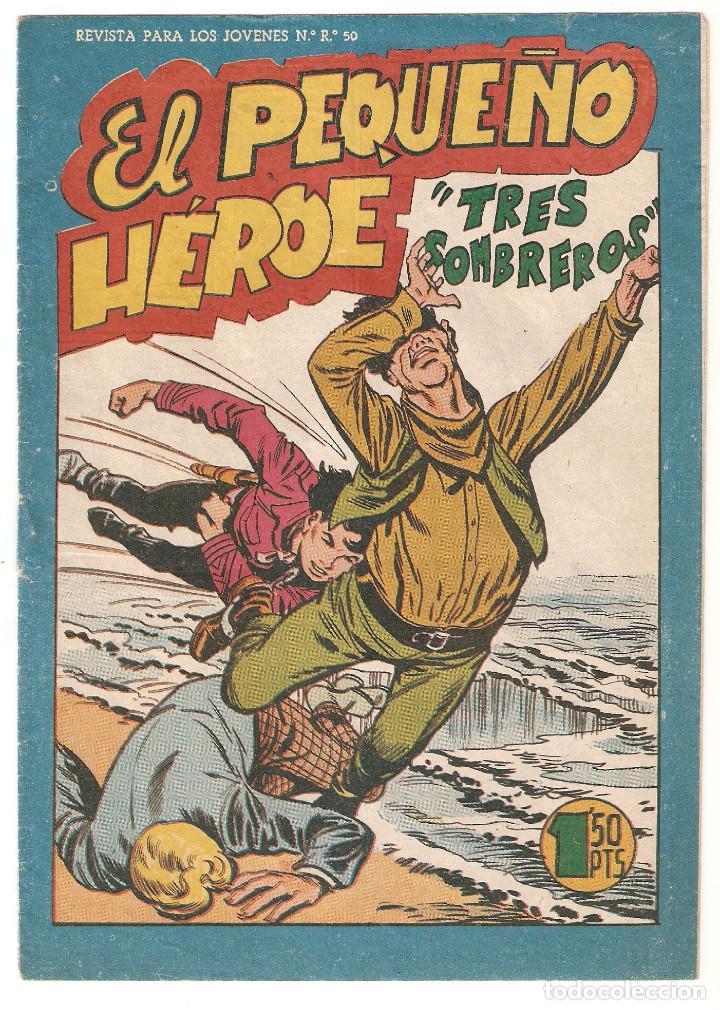 EL PEQUEÑO HEROE Nº 119 TEBEO ORIGINAL 1957 TRES SOMBREROS EDITORIAL MAGA BUEN ESTADO OFERTA MIRA !! (Tebeos y Comics - Maga - Pequeño Héroe)