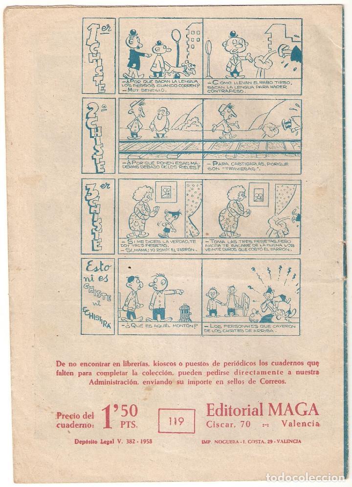 Tebeos: EL PEQUEÑO HEROE nº 119 TEBEO ORIGINAL 1957 TRES SOMBREROS Editorial Maga BUEN ESTADO Oferta MIra !! - Foto 2 - 165221410