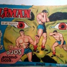 Livros de Banda Desenhada: OLIMÁN- AS DEL DEPORTE- Nº 18- OJOS ENIGMÁTICOS-1961-FC BARCELONA-GRAN RICARDO ACEDO-LEAN-1175. Lote 165267514