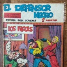Tebeos: EL DEFENSOR NEGRO, LOS NICOLS. SERIE CARAVANAS Y RANCHEROS Nº 4 - EDITORIAL MAGA ORIGINAL -. Lote 165351782