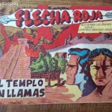 Tebeos: FLECHA ROJA, EL TEMPLO EN LLAMAS Nº 51 - EDITORIAL MAGA ORIGINAL -. Lote 200328355