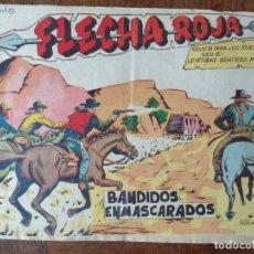 Tebeos: FLECHA ROJA, BANDIDOS ENMASCARADOS Nº 52 - EDITORIAL MAGA ORIGINAL -. Lote 165353170