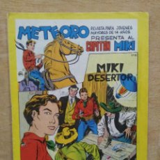 Tebeos: METEORO PRESENTA AL CAPITÁN MIKI - Nº 18 - ED. MAGA. Lote 165452558