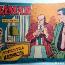 Tebeos: OLIMÁN-AS DEL DEPORTE- Nº 83 -SINIESTRA MAQUINACIÓN-1962-GRAN RICARDO ACEDO-BUENO-DIFÍCIL-1192. Lote 165525466
