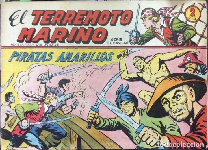 Tebeos: EL TERREMOTO MARINO SERIE EL GAVILAN 22 comics - Foto 2 - 165592954