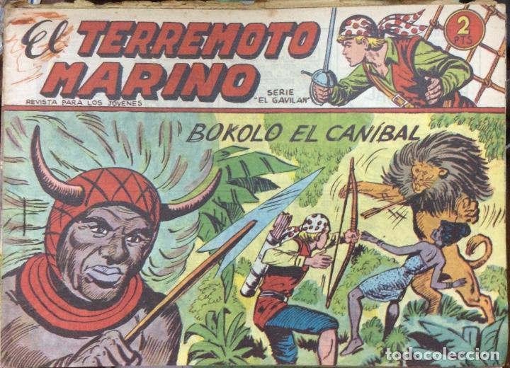 Tebeos: EL TERREMOTO MARINO SERIE EL GAVILAN 22 comics - Foto 3 - 165592954