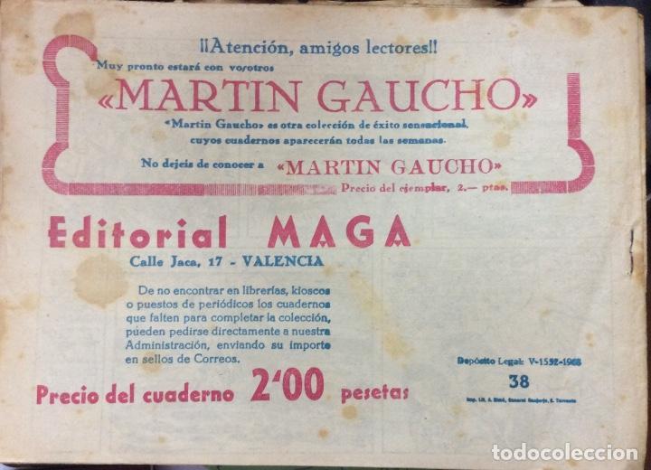 Tebeos: EL TERREMOTO MARINO SERIE EL GAVILAN 22 comics - Foto 4 - 165592954