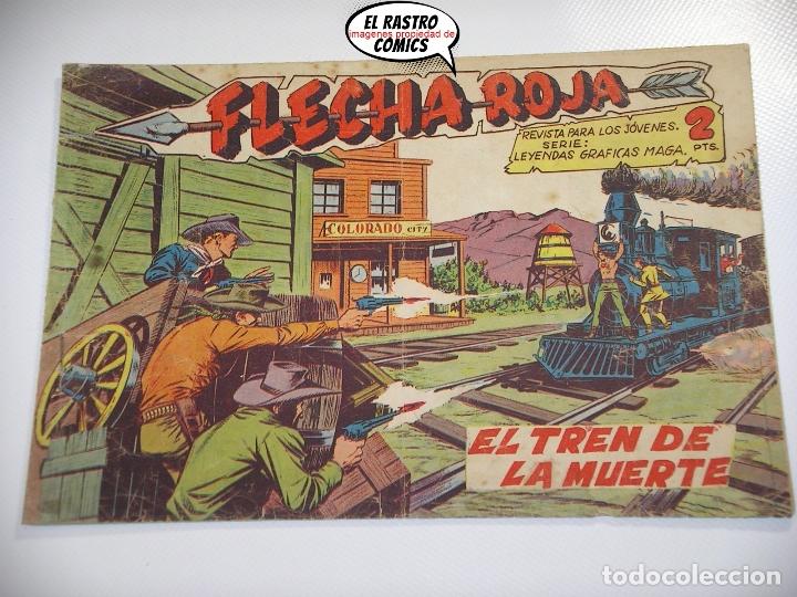 FLECHA ROJA Nº 31, ED. MAGA, ORIGINAL (Tebeos y Comics - Maga - Flecha Roja)
