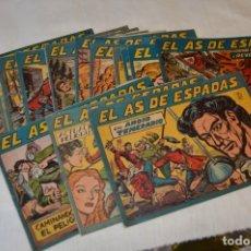 Tebeos: ORIGINAL - EL AS DE ESPADAS - 1954 EDITORIAL MAGA - PRIMEROS NÚMEROS, DEL 01 AL 16 - MUY BUEN ESTADO. Lote 166807256