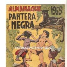 Tebeos: PANTERA NEGRA EXTRAORDINARIO Nº 3 ALMANAQUE 1959 TEBEO ORIGINAL EDITORIAL MAGA MUY BUEN ESTADO ORTÍZ. Lote 167118420