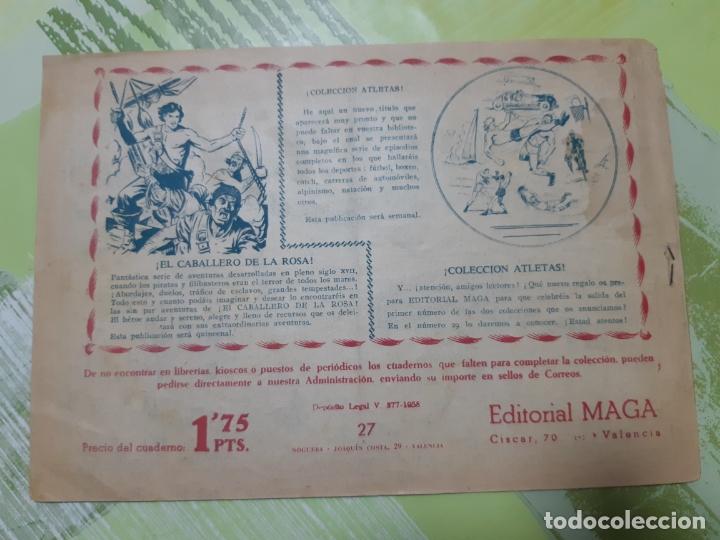 Tebeos: TEBEOS-COMICS CANDY - EL DUQUE NEGRO - Nº 27 - MAGA 1958 - ORIGINAL *AA98 - Foto 2 - 167439260
