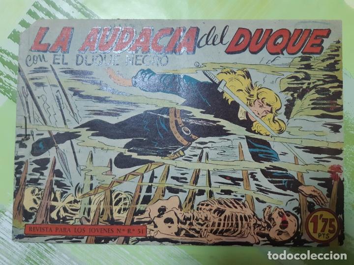 TEBEOS-COMICS CANDY - EL DUQUE NEGRO - Nº 35 - MAGA 1958 - ORIGINAL *AA98 (Tebeos y Comics - Maga - Otros)