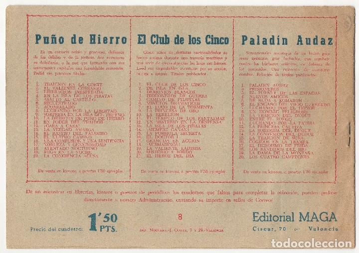 Tebeos: CAPITAN VALIENTE nº 7, 8 y 12 (Maga 1957) - Foto 5 - 131550238