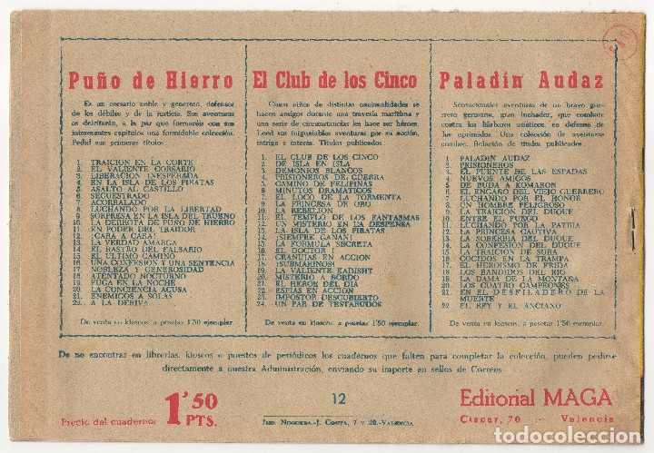 Tebeos: CAPITAN VALIENTE nº 7, 8 y 12 (Maga 1957) - Foto 7 - 131550238
