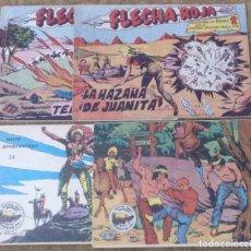 Tebeos: FLECHA ROJA Nº 29 Y 40 (MAGA 1962) Y WINCHESTER JIM Nº 4 Y 24 (RICART 1963). Lote 131549606