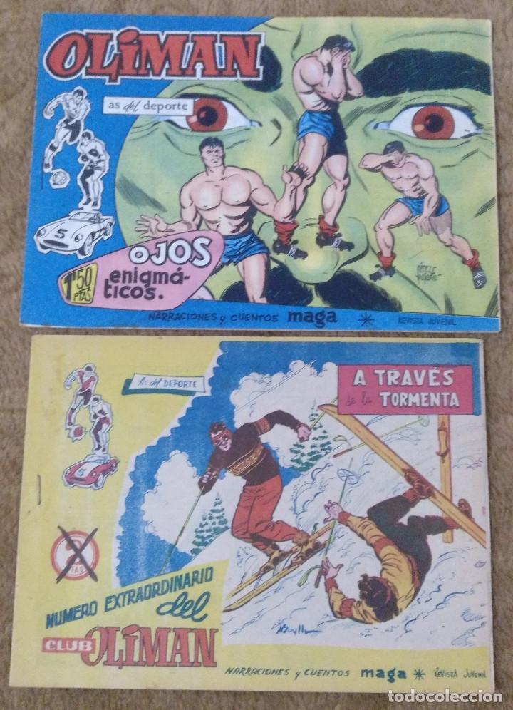 OLIMAN Nº 18 CONTRAPORTADA C.F. BARCELONA Y Nº 7 CONTRAPORTADA REAL SOCIEDAD (MAGA 1961/64) (Tebeos y Comics - Maga - Oliman)