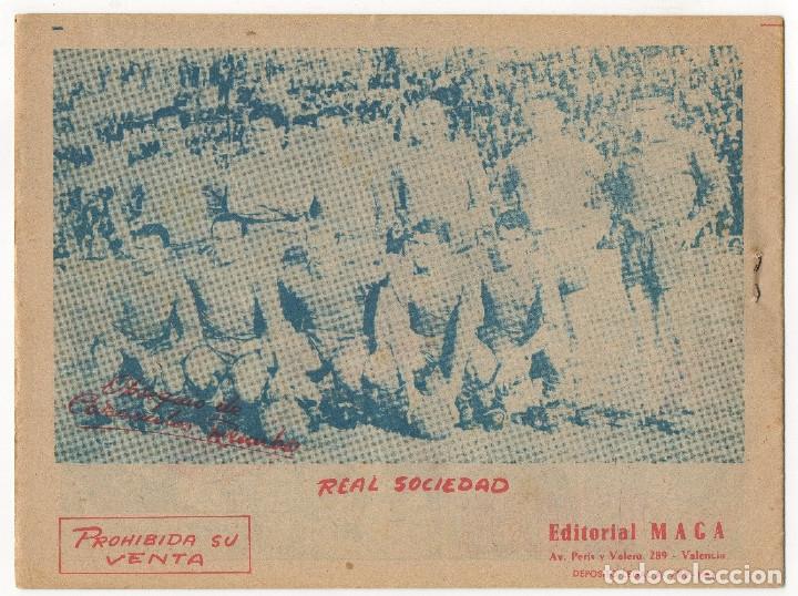 Tebeos: OLIMAN nº 18 Contraportada C.F. Barcelona y nº 7 Contraportada Real Sociedad (Maga 1961/64) - Foto 5 - 131547750