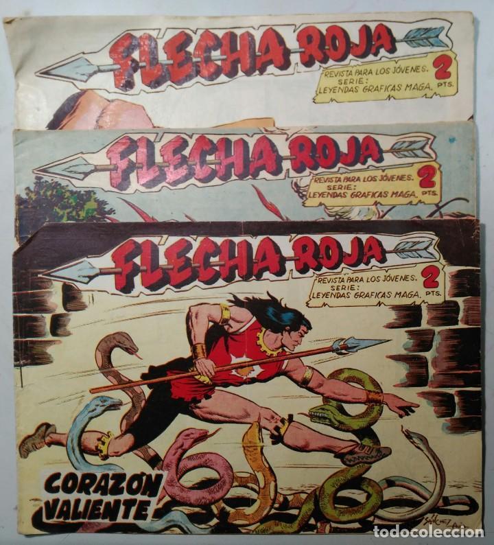 LOTE 3 COMICS - FLECHA ROJA - ED. MAGA. NÚMEROS. 40, 48 Y 52. BUEN ESTADO (Tebeos y Comics - Maga - Flecha Roja)