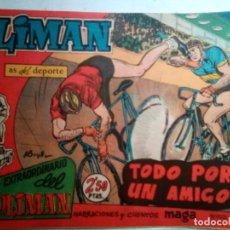 Tebeos: OLIMÁN-AS DEL DEPORTE- EXTRA- Nº 10 -TODO POR UN AMIGO-1961-RICARDO ACEDO-DIFÍCIL-LEAN-1384. Lote 168627956