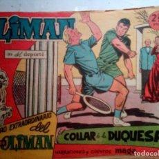 Tebeos: OLIMÁN-AS DEL DEPORTE- EXTRA- Nº 15 -EL COLLAR DE LA DUQUESA-1961-RICARDO ACEDO-DIFÍCIL-REGULAR-1387. Lote 168642500