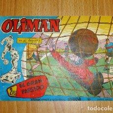 Livros de Banda Desenhada: OLIMAN : AS DEL DEPORTE. Nº 66 : EL GRAN PARTIDO. EN CUB. POSTERIOR: CLUB ELIZONDO DE SAN SEBASTIÁN,. Lote 170510816