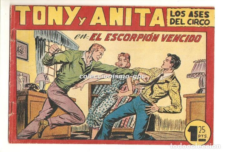 TONY Y ANITA LOS ASES DEL CIRCO Nº 117 TEBEO ORIGINAL 1956 EL ESCORPION VENCIDO EDITORIAL MAGA MIRA (Tebeos y Comics - Maga - Tony y Anita)