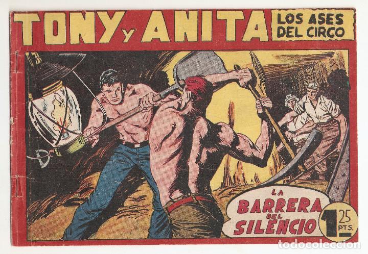 TONY Y ANITA LOS ASES DEL CIRCO Nº 114 TEBEO ORIGINAL 1956 LA BARRERA DEL SILENCIO EDITORIAL MAGA (Tebeos y Comics - Maga - Tony y Anita)