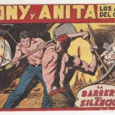 Tebeos: TONY Y ANITA LOS ASES DEL CIRCO Nº 114 TEBEO ORIGINAL 1956 LA BARRERA DEL SILENCIO EDITORIAL MAGA. Lote 170918825