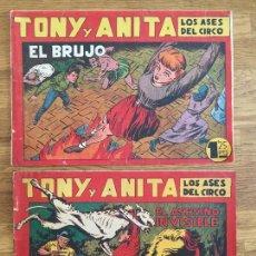Giornalini: LOTE 2 NUMEROS TONY Y ANITA ( 27 Y 29) - 1,25 PESETAS - MAGA, ORIGINAL - GCH. Lote 171494480
