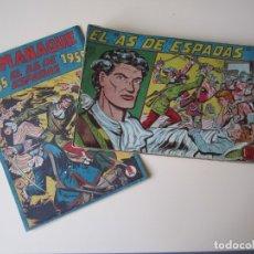 Tebeos: EL AS DE ESPADAS EDITORIAL MAGA VALENCIA: ESPAÑA 1954 - 15-VI-1955 29 ORDINARIOS + 1 ALMANAQUE. Lote 172373510