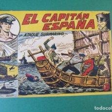 Tebeos: CAPITAN ESPAÑA, EL (1955, MAGA) 4 · 25-V-1955 · ATAQUE SUBMARINO. Lote 172657557