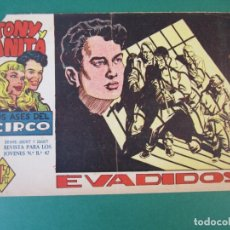 Tebeos: TONY Y ANITA (1960, MAGA) 25 · 28-XII-1960 · EVADIDOS. Lote 172663778