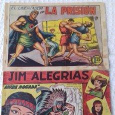 Tebeos: 2 TEBEOS DE M. GAGO: EL LIBERTADOR Nº 4 (1950) Y JIM ALEGRIAS Nº 2 (1960). - VER FOTOS. Lote 172689030