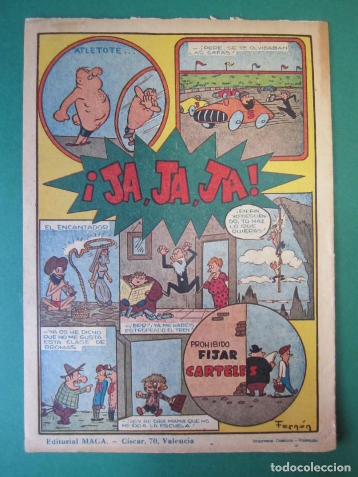 Tebeos: PACHO DINAMITA (1951, MAGA) EXTRA 1 · VII-1954 · EXTRAORDINARIO DE VERANO - Foto 2 - 172727204