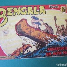 Tebeos: BENGALA (1960, MAGA) 13 · 6-VII-1960 · PERSECUCION EN ALTA MAR. Lote 172761134