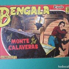 Tebeos: BENGALA (1960, MAGA) 14 · 13-VII-1960 · EL MONTE DE LAS CALAVERAS. Lote 172768728