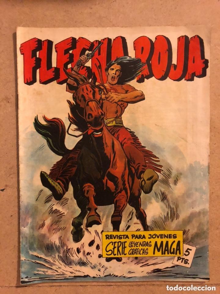 """FLECHA ROJA """"EL JEFE MISTERIOSO"""". SERIE LEYENDAS GRÁFICAS MAGA. INCLUYE CROMOS CUPÓN 1 (Tebeos y Comics - Maga - Flecha Roja)"""