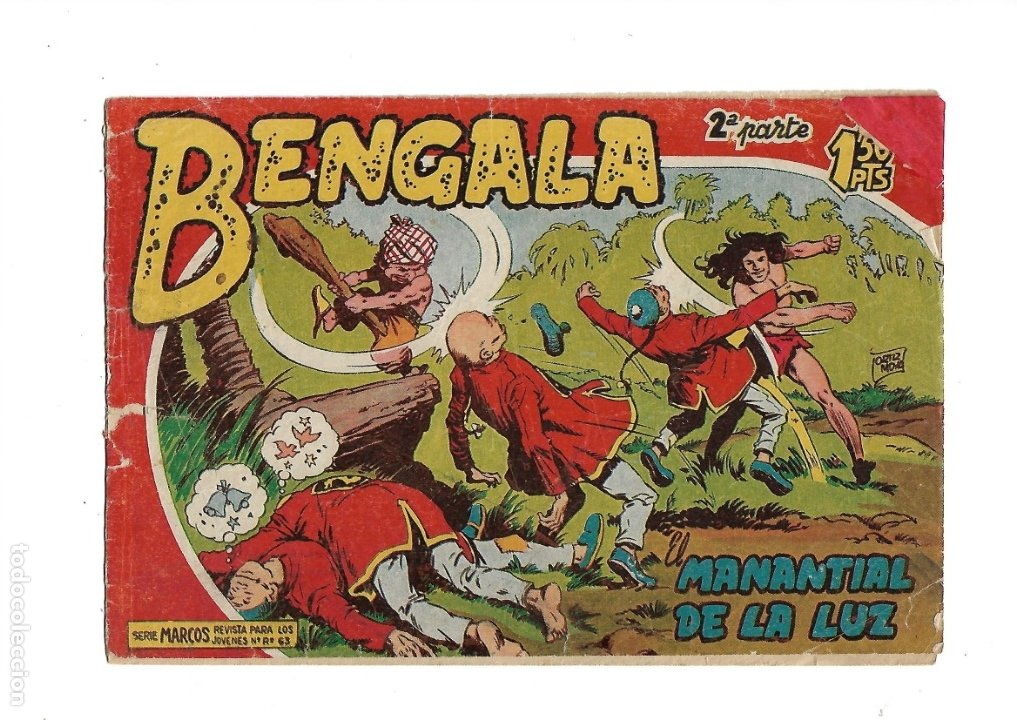 BENGALA 2ª PARTE Nº 1 ES ORIGINAL DEL AÑO 1960 DIBUJADO POR L. ORTIZ EDITORIAL MAGA. (Tebeos y Comics - Maga - Bengala)
