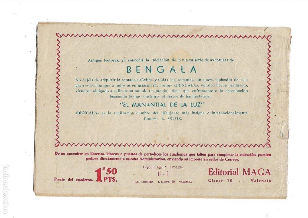 Tebeos: Bengala 2ª Parte Nº 1 es Original del Año 1960 Dibujado por L. Ortiz Editorial Maga. - Foto 2 - 173434084