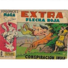 Tebeos: PERSONAJES MAGA EXTRA FLECHA ROJA Nº 1. ES ORIGINAL DEL AÑO 1962 DIBUJADO POR SIGARPE. Lote 173439640