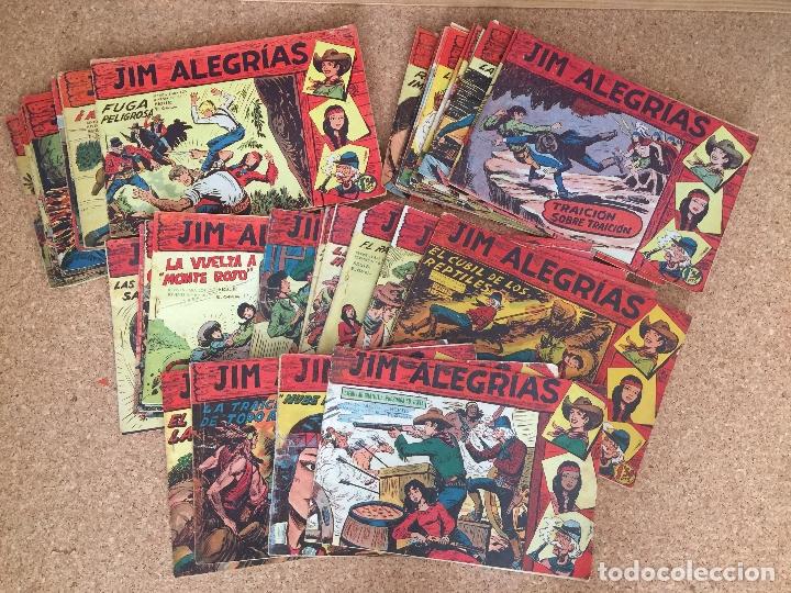 LOTE 49 NUMEROS JIM ALEGRIAS (ENTRE EL 1 Y EL 63, VER INTERIOR DEL ANUNCIO) - MAGA, ORIGINAL - GCH (Tebeos y Comics - Maga - Otros)