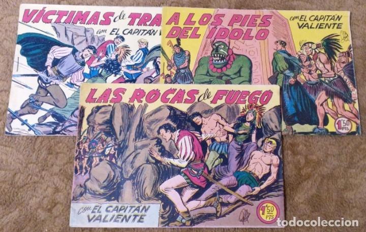 CAPITAN VALIENTE Nº 7, 8 Y 12 (MAGA 1957) (Tebeos y Comics - Maga - Otros)