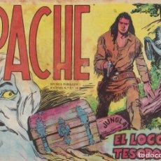 Tebeos: APACHE Nº 35 EL LOCO YEL TESORO EL DE LA FOTO VER FOTO ADICIONAL CONTRAPORTADA. Lote 174082138