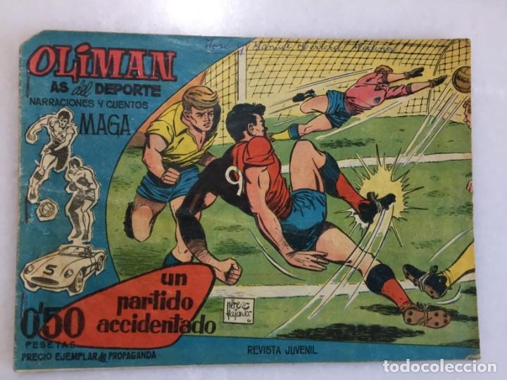 UN PARTIDO ACCIDENTADO Nº 1 CONTRAPORTADA RAMALLETS (Tebeos y Comics - Maga - Oliman)