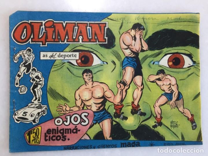 OJOS ENIGMÁTICOS, CONTRAPORTADA CLUB DE FÚTBOL BARCELONA 1961 (Tebeos y Comics - Maga - Oliman)